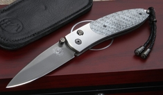 William Henry B05 Spector Silver Twill Folding Knife