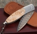 William Henry B05 Hawk Maple and Damascus Folding Knife