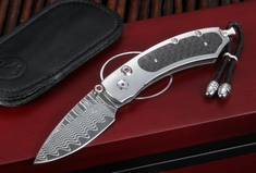 William Henry B09 Blaze Kestrel - Damascus Folding Knife