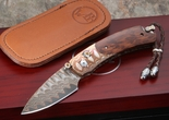 William Henry B09 Copperhead Folding Knife - Mokume & Damascus