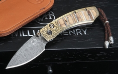 William Henry B09 Golden Hornet - Mammoth Tooth, Damascus and Gold Koftgari