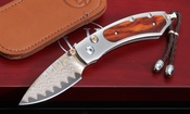 William Henry B09 Rosemont Kestrel - Damascus Folding Knife
