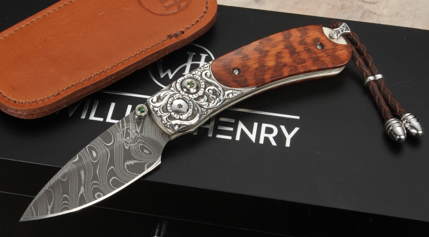 William Henry B09 Weston Snakewood Damascus And