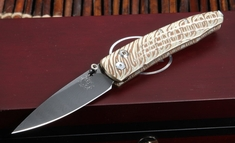 William Henry B10 Magellan Lancet - Mokume and Damascus Folding Knife