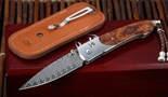 William Henry B10 TIW Ironwood - Damascus Folding Knife