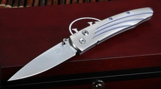 William Henry B10 Vanguard Lancet Titanium Folding Knife