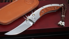 William Henry B11 Burnt Silver Folding Knife