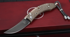 William Henry B11 Genoa Persian - Mokume Folding Knife