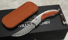 William Henry  B11 Spinnaker Cocobolo and Damascus Folding Knife