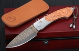 William Henry B12 Broad Branch Spearpoint - Amboyna Burl Folding Knife