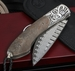 William Henry B12 Primeval Damascus Folding Knife