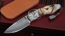 William Henry B12 Talon - Mammoth and Damascus Folding Knife