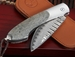 William Henry B12 TMW Wave Damascus Folding Knife