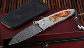 William Henry B30 Monsoon - Amboyna Burl Damascus Folding Knife