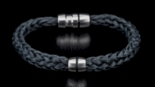 William Henry Braided Kevlar - Stainless Steel  and Spinel Bolt Action Bracelet