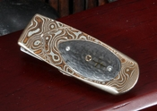 William Henry Money Clip - M1 RMC Geneva - Mokume & Carbon Fiber Inlay