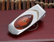 William Henry Money Clip - M1 TCO - Titanium & Cocobolo Inlay