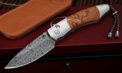 William Henry B12 Copper Butte Damascus Folding Knife