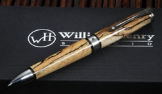 William Henry TW1-1203 Chablis - Spalted Tamarind Wood Twist Pen