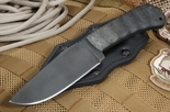 Winker Hunting Knife - Sculpted Black Micarta