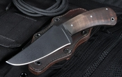 Winkler Belt Knife - Curly Maple Handle - Black Caswell Finish
