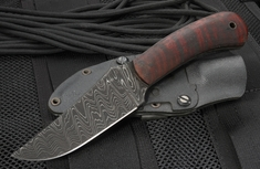 Exclusive Winkler Damascus Blue Ridge Hunter - Maple Handle