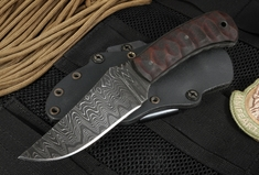 Winkler Blue Ridge Hunter - Damascus - Scuplted Maple - Exclusive