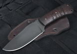 Winkler Hunting Knife - Caswell/Maple with Tribal Design