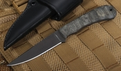 Winkler Knives Operator - Sculpted Black Micarta and Caswell