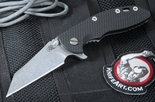 "Rick Hinderer XM-18 3 1/2"" Black Wharncliffe Folding Knife"
