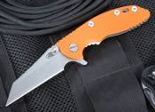 "Rick Hinderer XM-18 3"" Orange Wharncliffe Flipper"