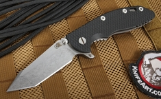 "Rick Hinderer XM-18 3.5"" FATTY Edition Black Harpoon Flipper"