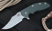 "Rick Hinderer XM-18 3.5"" Bowie Blade - Green"