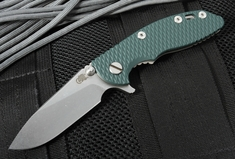 "Rick Hinderer XM-18 3"" Slicer - Textured Green G-10 Tactical Flipper"