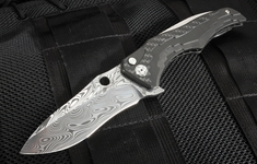 Brian Tighe ZipTighe Damascus & Carbon Fiber Custom Folding Knife