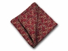 "Pocket Square ""Red Paisley"""