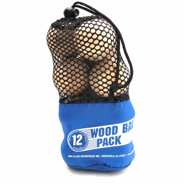 A&R Wooden Hockey Stickhandling Ball - 12 Pack