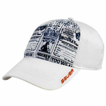 Bauer Newsprint Senior Hockey Hat