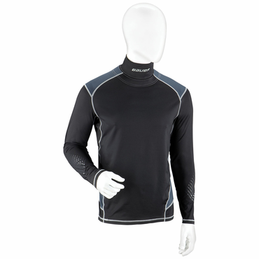Bauer Premium Integrated Neck Youth Long Sleeve Hockey Shirt