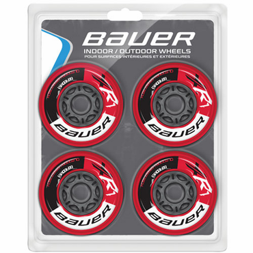 Bauer XR1 Outdoor Inline Hockey Wheels - 4 Pack