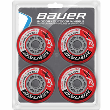 Bauer XR3 Indoor Inline Hockey Wheels - 4 Pack