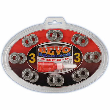 Bevo Inline Hockey Bearings - ABEC-3 - 16 Pack