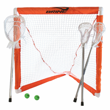 Brine Mini Lacrosse Stick Set w/Goalie Stick, Goal, and Net