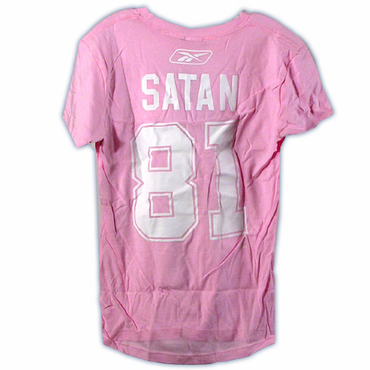CCM 4962 Player Womens Short Sleeve Hockey Shirt - New York Islanders - Satan
