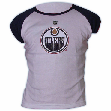 CCM 5164 Player Womens Short Sleeve Hockey Shirt - Edmonton Oilers -Hemsky