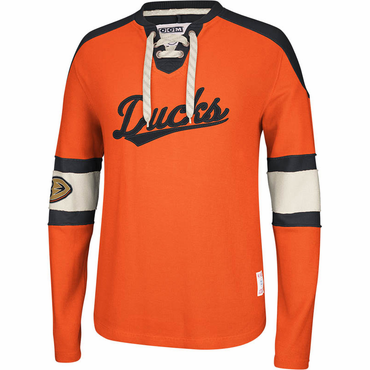 CCM Knit Crew Senior Long Sleeve Hockey Shirt - Anaheim Ducks