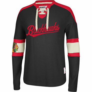 CCM Knit Crew Senior Long Sleeve Hockey Shirt - Chicago Blackhawks