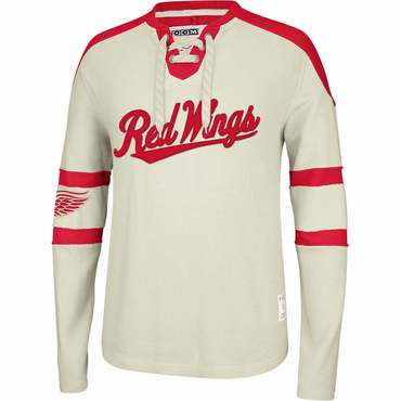 CCM Knit Crew Senior Long Sleeve Hockey Shirt - Detroit Red Wings