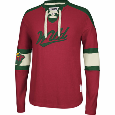 CCM Knit Crew Senior Long Sleeve Hockey Shirt - Minnesota Wild