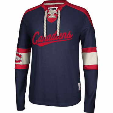 CCM Knit Crew Senior Long Sleeve Hockey Shirt - Montreal Canadiens